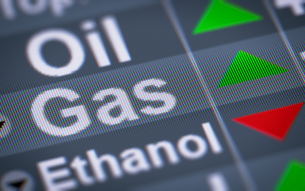Gas oil ethanol graphic